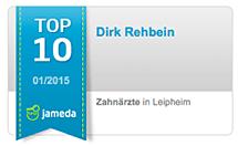 Jameda Top 10 Dirk Rehbein von Zahnwerk Rehbein. Ihre Zahnarztpraxis für Leipheim, Günzburg, Langenau.